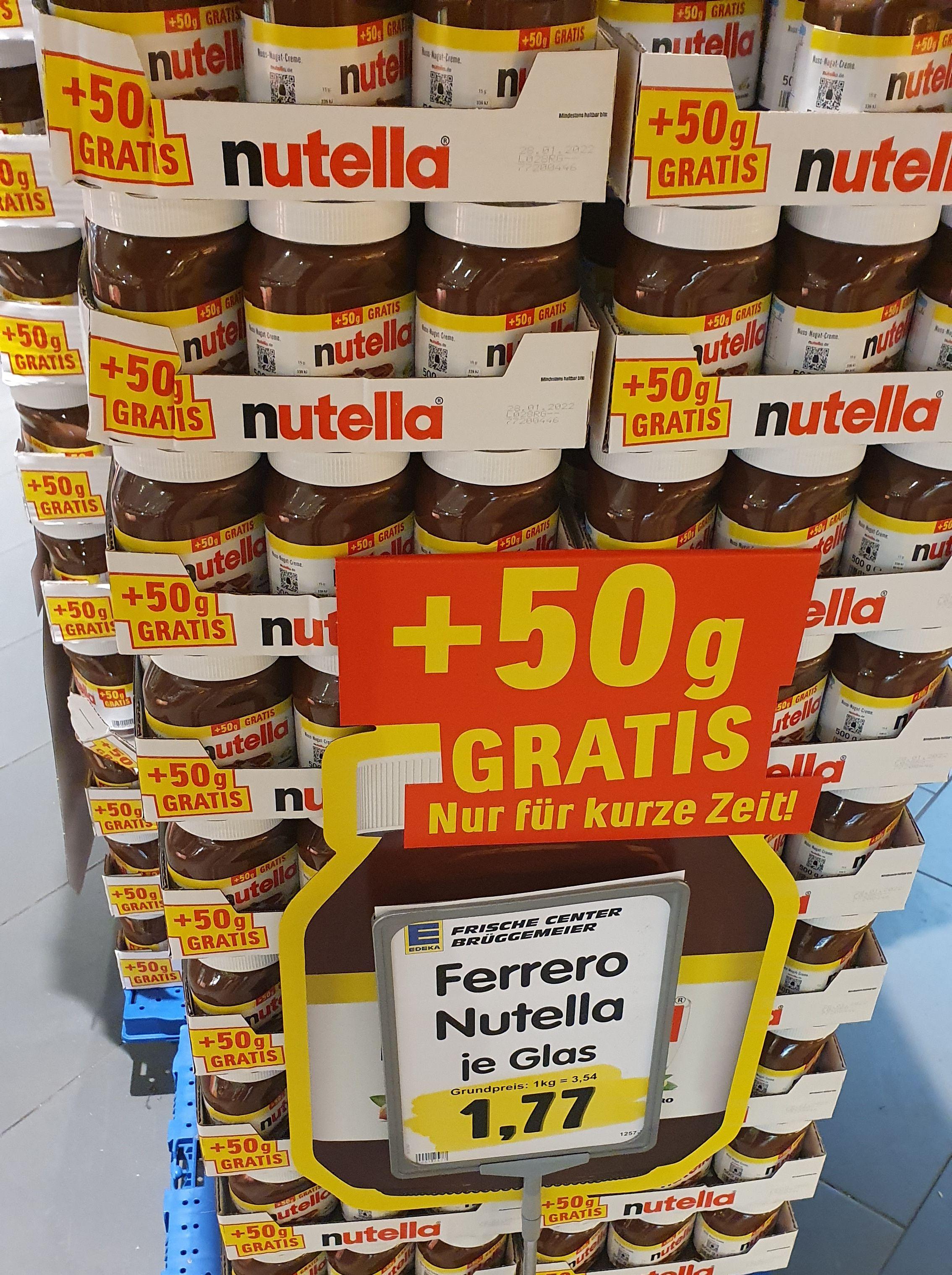 [lokal Rhein-Ruhr] 500g Nutella bei Edeka