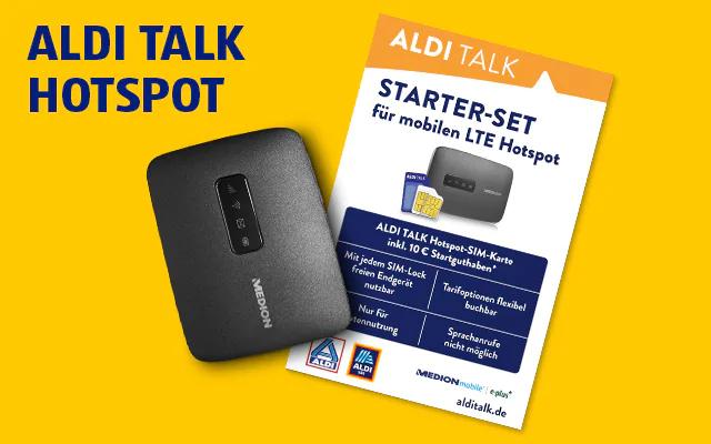 (Lokal Aldi Wuppertal Unterdörnen 80) Mobiler LTE-Hotspot MD62095 incl. 10,- Aldi Talk Starter-Set