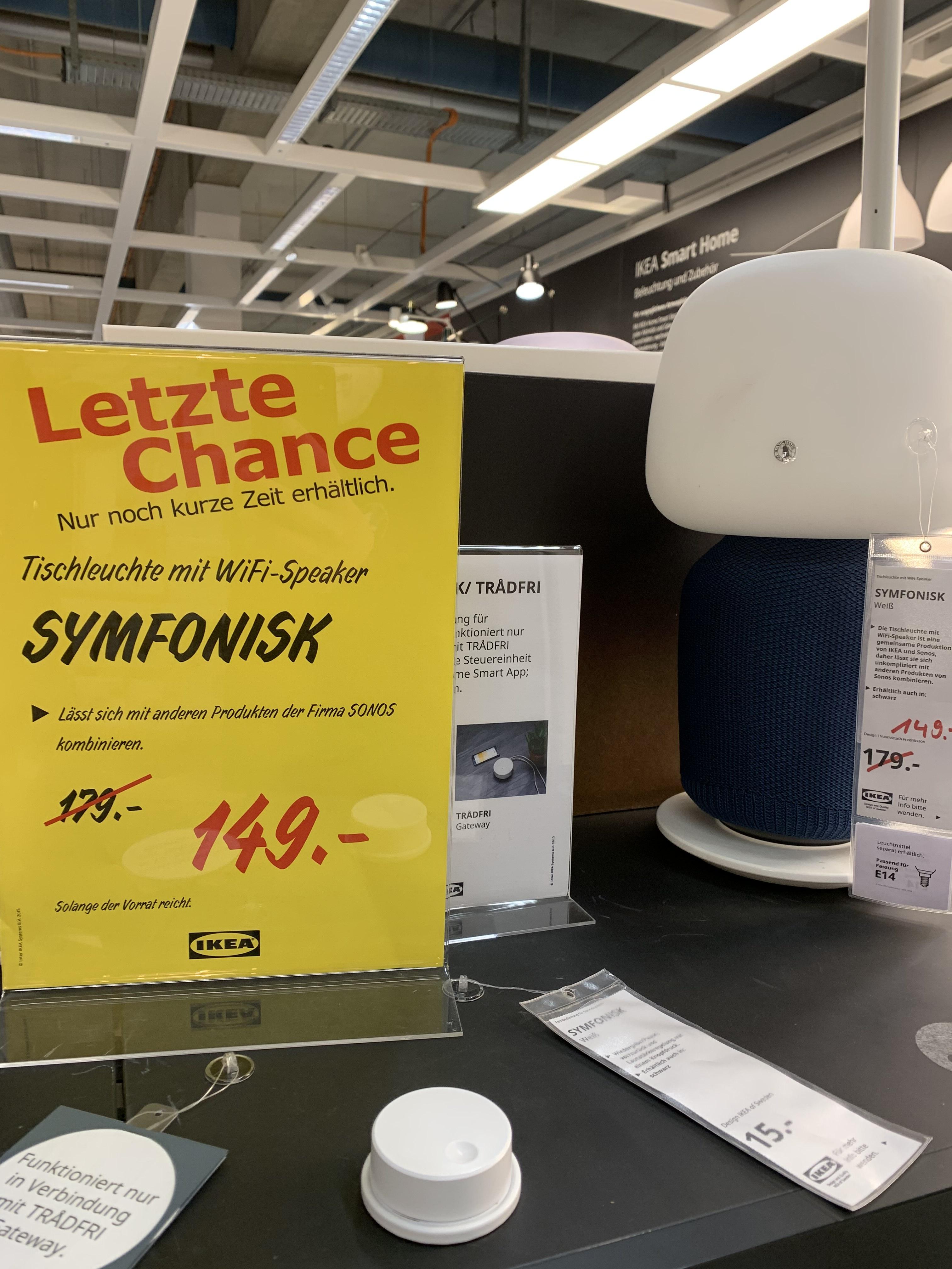Lokal - Ikea Symfonisk (nur Ikea HH-Schnelsen?)