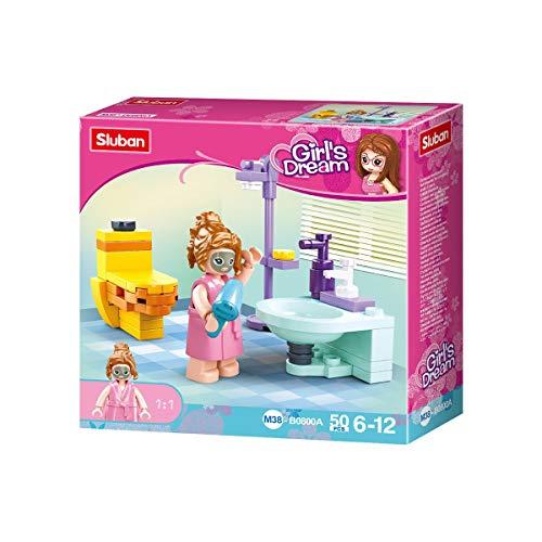 Amazon Prime - Sluban SL07186, Mini-Bauset Badezimmer (50 Teile) , Spielse für 2,99 Euro