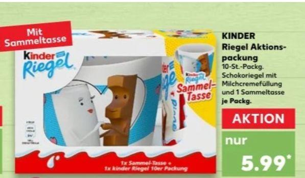 [Kaufland] Ferrero kinder Riegel 10er Pack mit (neuen) Sammeltassen-Motiven ab 11.03.