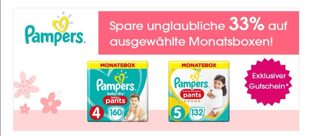 33% auf Pampers Pants Monatsboxen bei Babymarkt