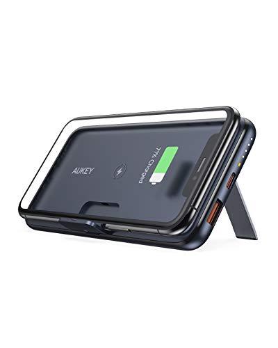 [Amazon Prime] Aukey Wireless Powerbank (Upgrade) ( 10000 mAh, Wireless 10 W, USB-C und QC 3.0 )
