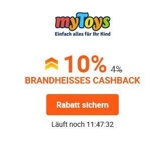 iGraal: 10% Cashback statt 4% bei myToys
