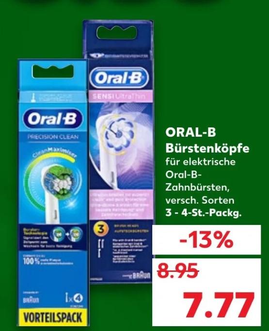 [Kaufland] Braun Oral-B Aufsteckbürsten 3er und 4er: CrossAction 2,09 €/ Stk. PrecisionClean 1,56€/ Stk.