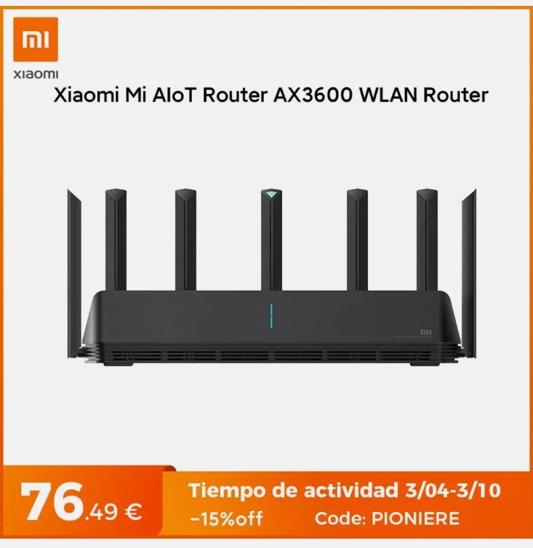 [eBay] Xiaomi Mi AX3600 Router für 76,50€ (WiFi 6, 2976 Mbps, 7 Antennen, Mesh-Funktionalität)