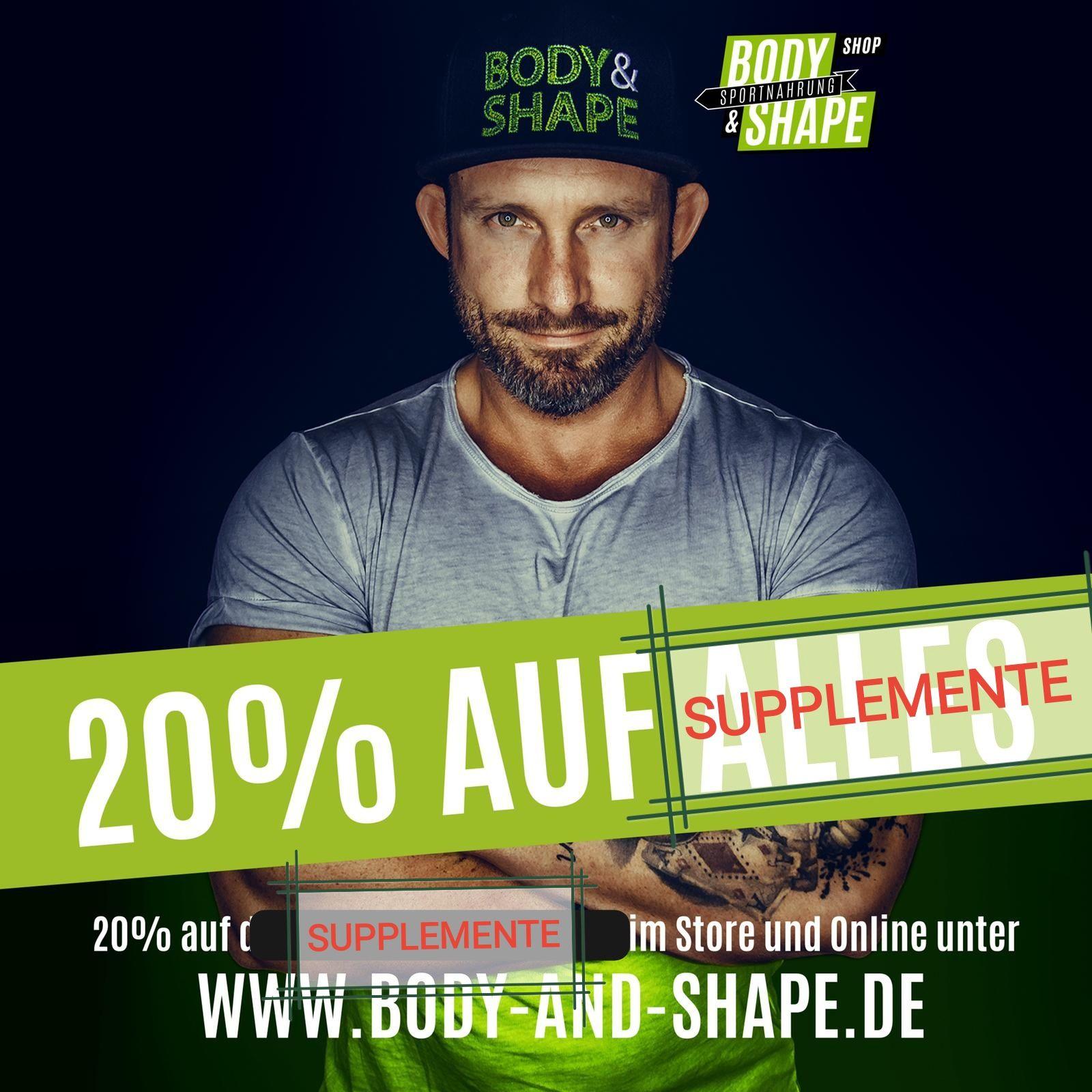 20% auf alle Supplemente bei Body&Shape