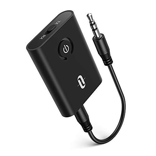 TaoTronics TT-BA07 Bluetooth-Adapter (Sender oder Empfänger, BT5.0, aptX LL, ~7h Akku, duale Kopplung möglich)