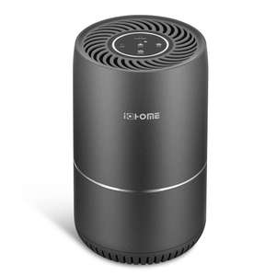 i@home Luftreiniger KJ65F-A1, H13 HEPA-Filter, Tastenbeleuchtung, Kindersicherung, 3 Lüftungsstufen