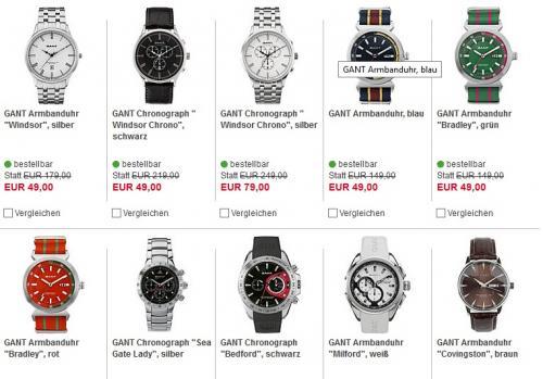 GANT Uhren bei Karstadt extrem reduziert