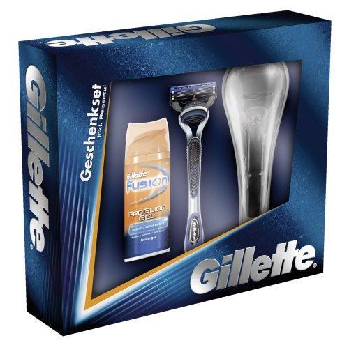 GILLETTE Fusion ProGlide GESCHENKSET  (Rasierer, Reiseetui, ProGlide Mini-Gel) für 3,19 € [Amazon - Prime]