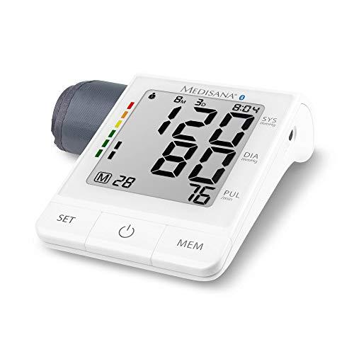 Medisana BU 530 connect Oberarm-Blutdruckmessgerät ohne Kabel mit Prime