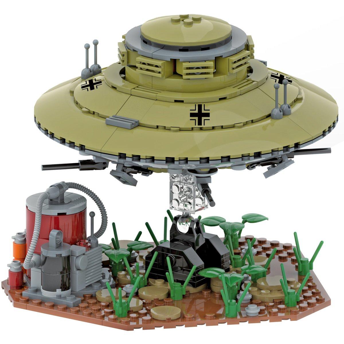 Modbrix UFO Flugscheibe aus Klemmbausteinen