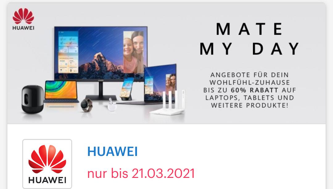 [ Shoop | Huawei ] 4% Cashback + Bis zu 50€ Shoop-Gutschein* + Bis zu 60% Rabatt auf deinen neuen Huawei Mate