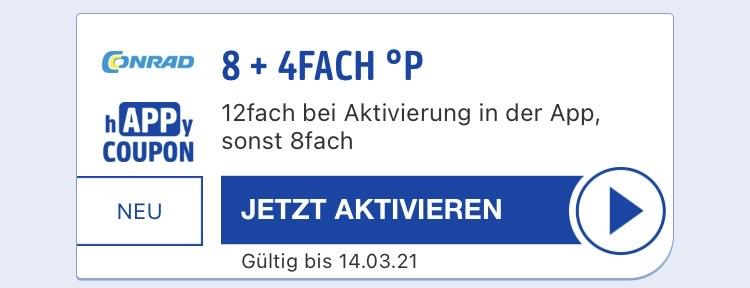 PAYBACK Conrad 12-fach / 8-fach