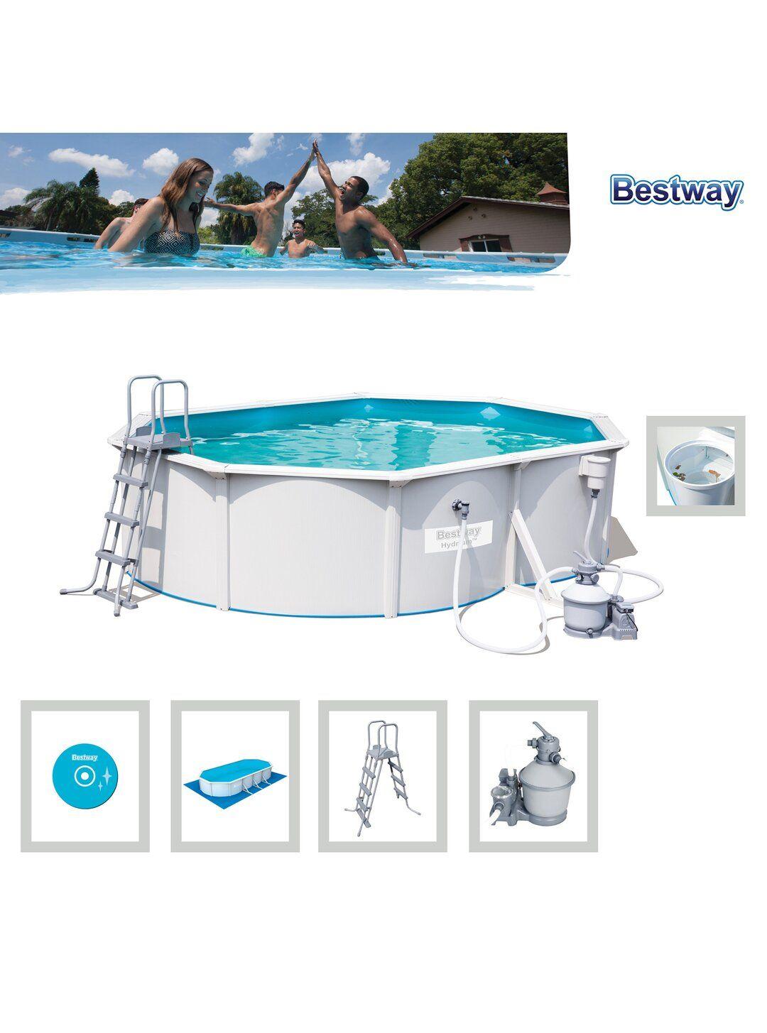 Bestway Hydrium Pool-Set Oval 500 cm x 360 cm x 120 cm Obi Abholung