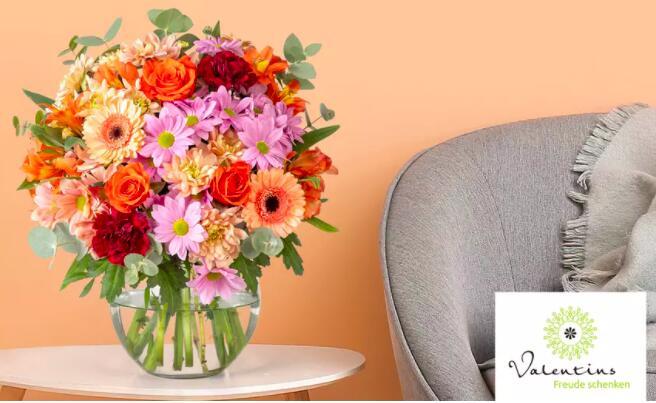 Wertgutschein über 12€ anrechenbar auf das gesamte Blumen- und Geschenksortiment von Valentins