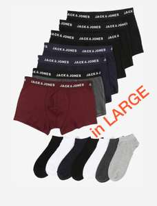[amazon prime] JACK & JONES Herren Jactravel Kit Mix Boxershorts und Socken, 7er Pack nur in LARGE