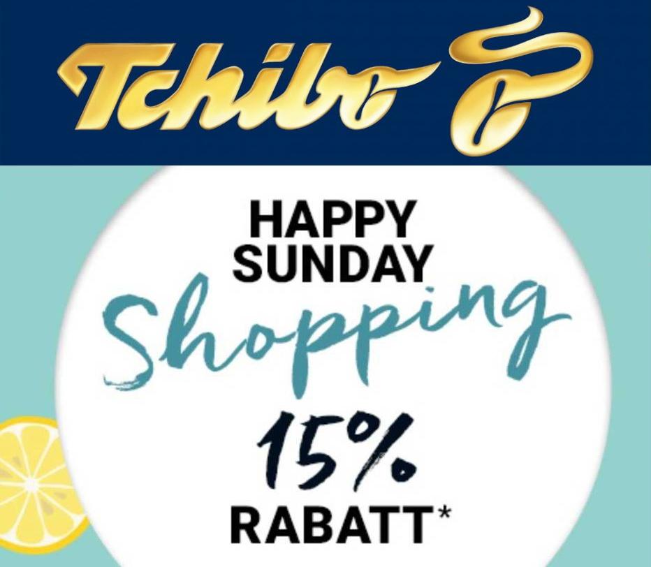 Tchibo Happy Sunday - 15% Rabatt auf fast alles (ohne Mindestbestellwert)