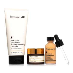 Dr. Perricone Cleanser 177ml, Essential Fx Moisturizer 30ml & No Make up Serum 30ml
