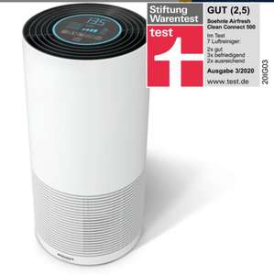 [Check24] Soehnle Luftreiniger Airfresh Clean Connect 500 mit Bluetooth für 239,99€ über Deltatecc