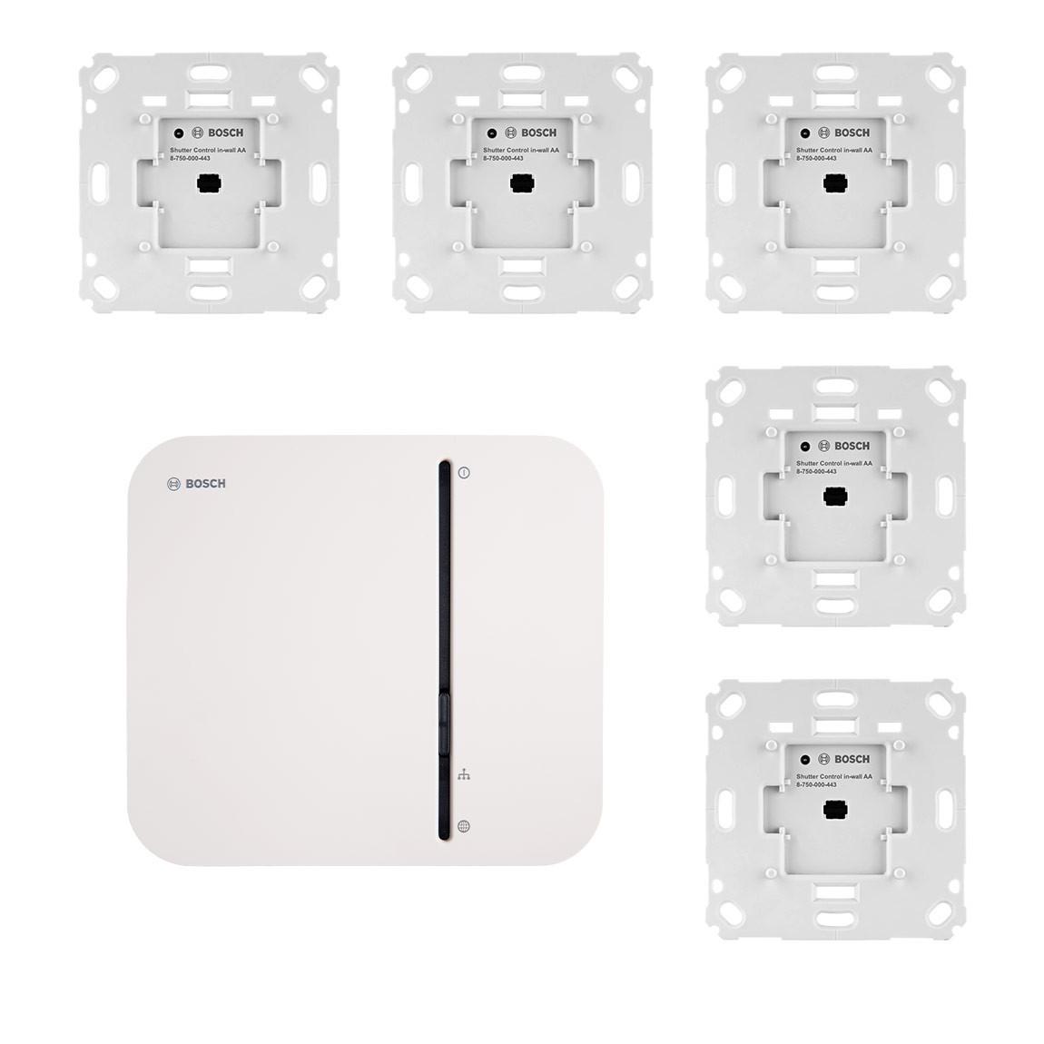 Bosch Smart Home - Starter Set 5x Rollladensteuerung + Gateway für 289€ oder 3er Set für 199€