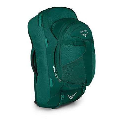 OSPREY Fairview 55 Damen-Rucksack, Farbe Rainforest Green, inklusive 13 L Tagesrucksack,Misty Grey für 51,62€ beide Farben wieder verfügbar
