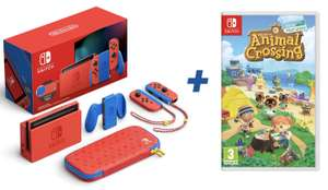 NINTENDO Switch Mario Red & Blue Limited Edition + Animal Crossing: New Horizons für zusammen 349€ inkl. Versandkosten