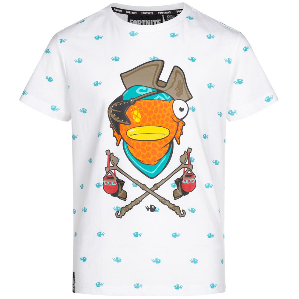Fortnite Kinderbekleidung im Sale - z.B. Fortnite Fischstäbchen Kinder T-Shirt in Größe 122 bis 164