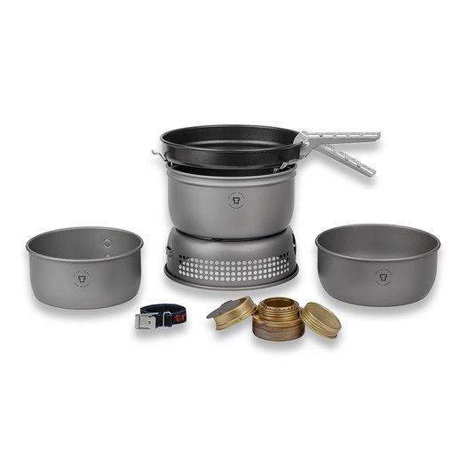 [lamnia.com] Trangia Storm Cooker Hard Anodized 25-3 HA, 2 Kochtöpfe und 1 Bratpfanne und ein weiteres Modell
