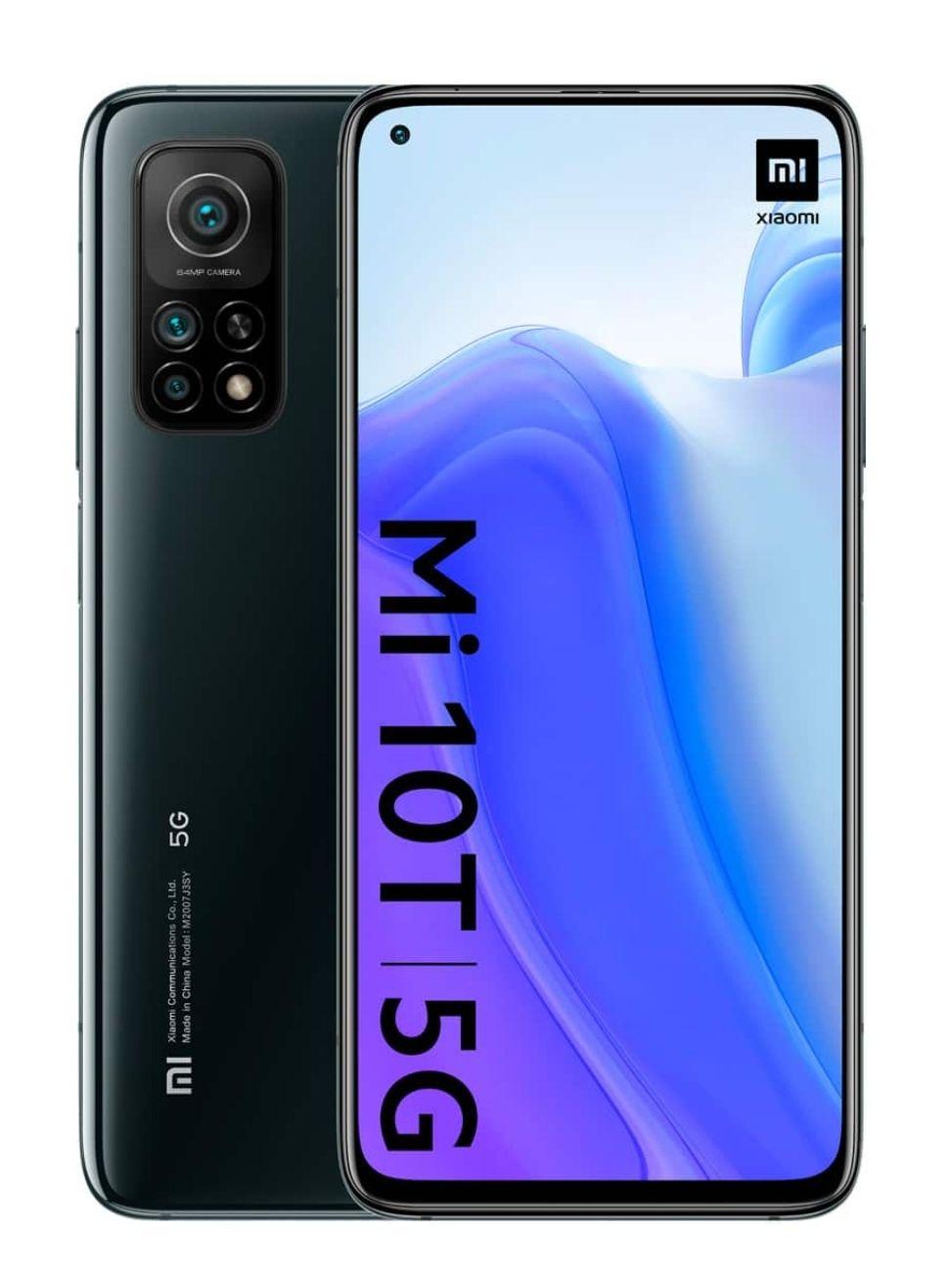 "Xiaomi Mi 10T 6,67"" FHD+ 5G Dual-SIM 8/128GB (589K AnTuTu, Snapdragon 865, 5.000 mAh, 64 MP Triple-Cam, NFC, USB-C, aptX HD, 144 Hz)"