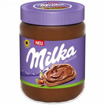 Milka Haselnusscreme (Palmölfrei), das 600g-Glas für 2,89 Euro [Globus SB Warenhaus]