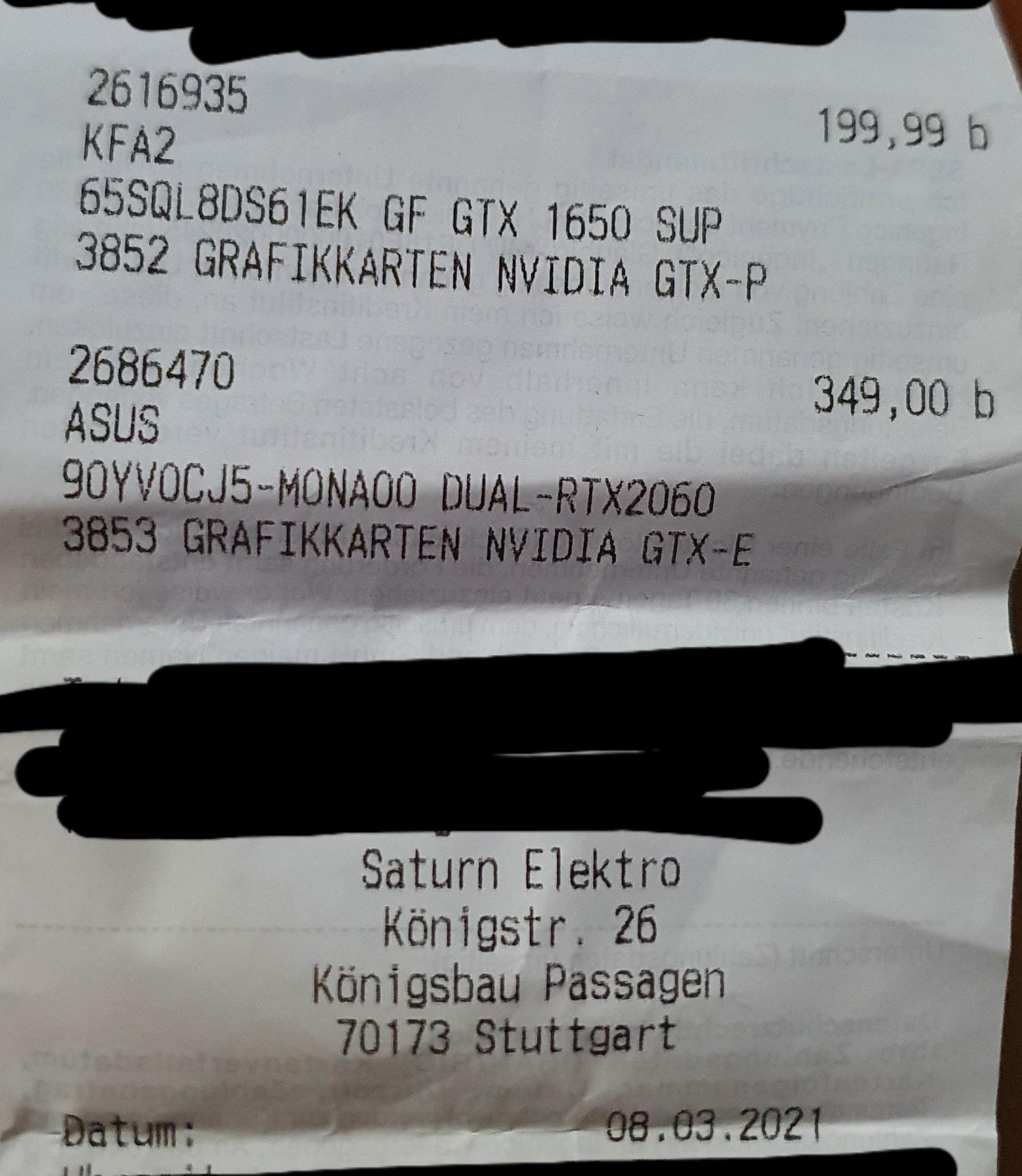 [Offline][Saturn] ASUS RTX 2060 Dual Mini