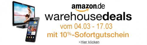 Ab 4. März bis 24. März wieder 10 % auf Amazon WarehouseDeals!!!