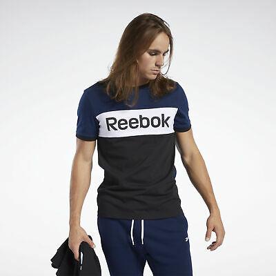 Reebok Sport Training Essentials Linear Logo T-Shirt Herren in 2 Farben(College Marine, Weiß)