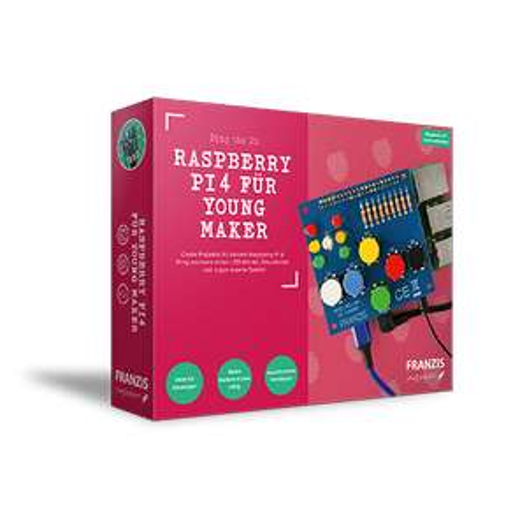 Young Maker Kit für Raspberry Pi 4 (LED-Würfel, verrückte Farbenspiele, Discolicht und vieles mehr) [Kein Raspberry Pi 4 enthalten!]]