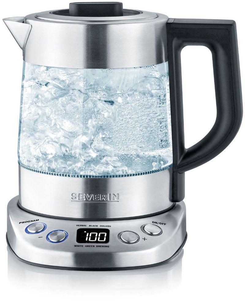SEVERIN WK 3473 Deluxe Mini Wasserkocher (2200 Watt , Transparent/Edelstahl gebürstet/Schwarz) [Saturn & Amazon]