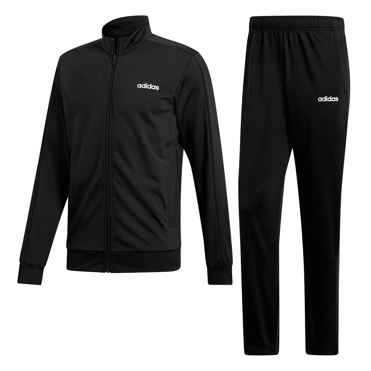 adidas Trainingsanzug MTS Basic schwarz/weiß Größen S bis XL