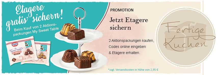 (Aldi Nord & Kaufland ) 2x My Sweet Table (Aktionsware) kaufen und eine Etagere gratis sichern!