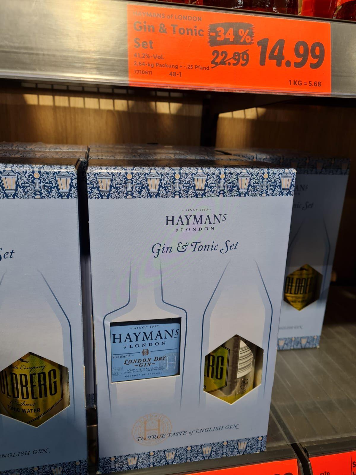 Haymans Gin 41,2% inkl. 1l Goldberg Tonic Lidl Am Centro Oberhausen