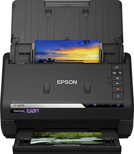 Nischendeal: Epson FastFoto FF-680W Scanner (scannt 10x15 Fotos in einer Sekunde, bis DIN A4, beidseitiger Scan, automatische Ausrichtung)