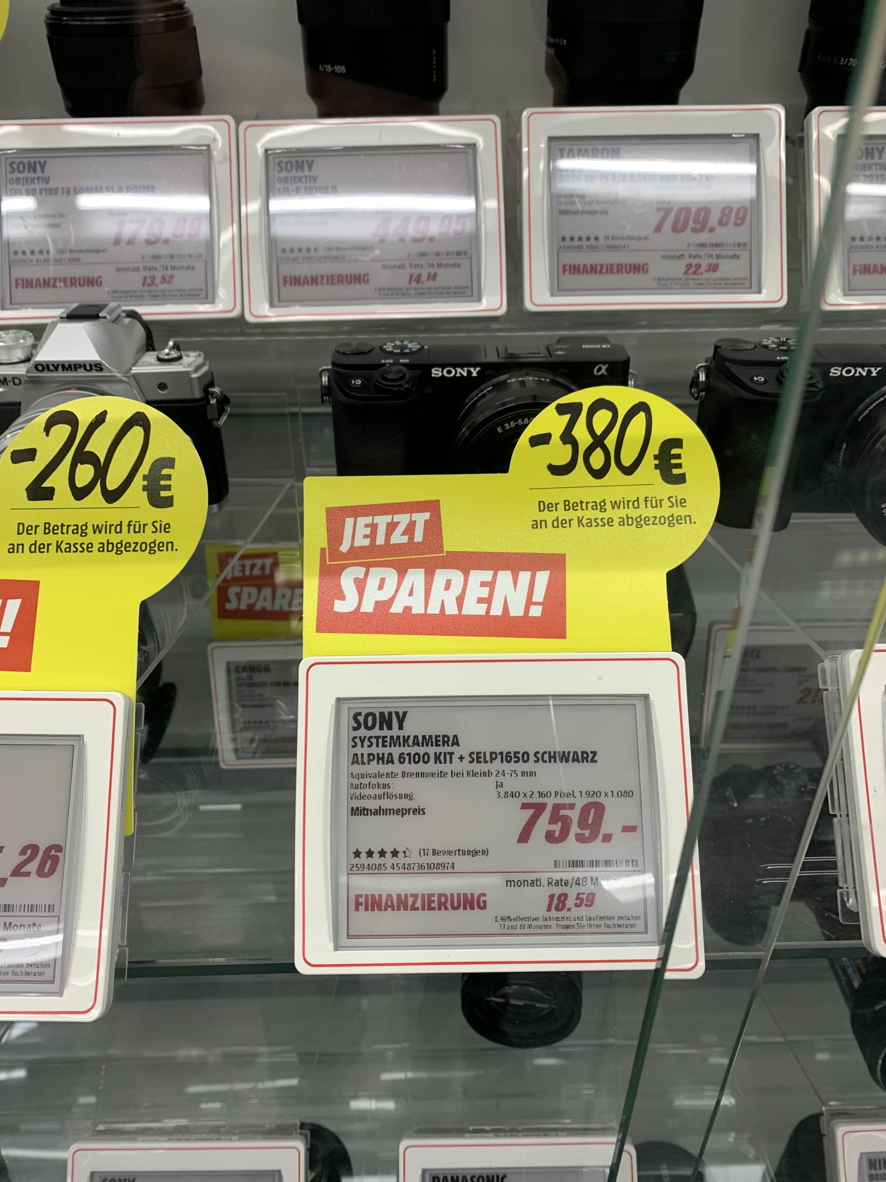 [Lokal Media Markt Heide] Sony Alpha 6100 Kit