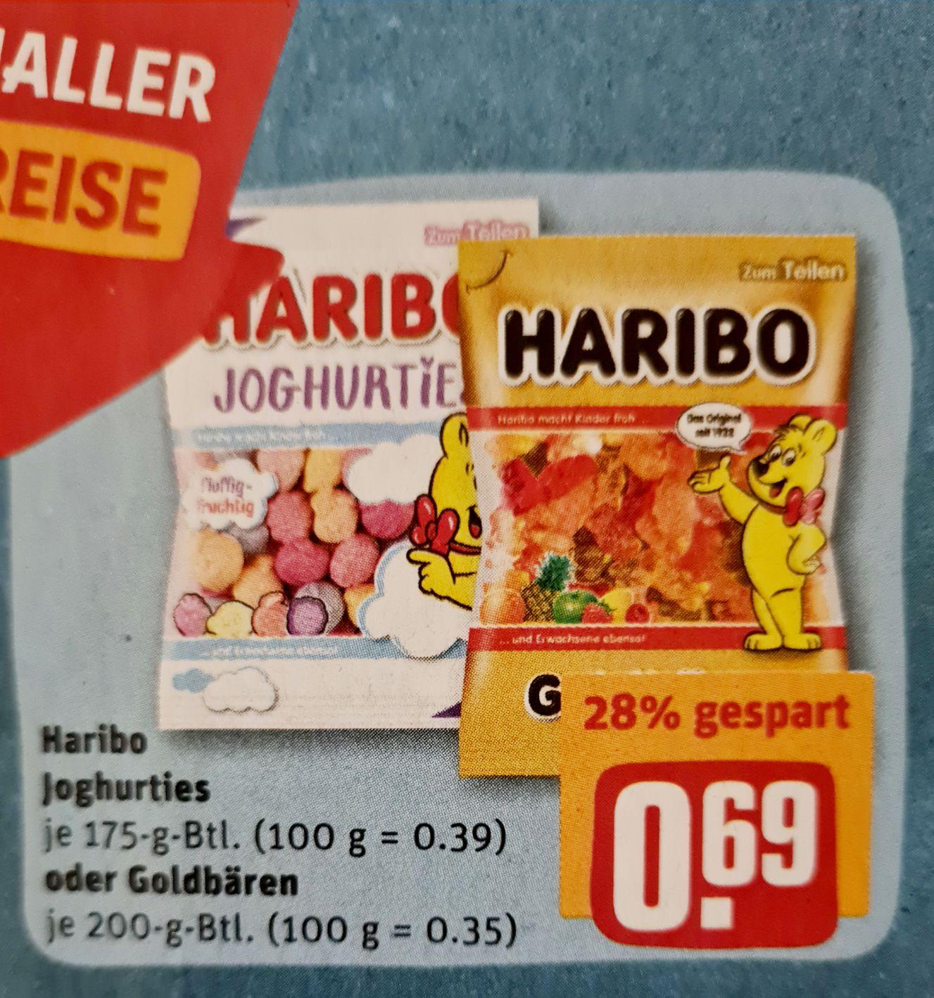 Haribo Joghurties je 175 g oder Goldbären je 200 g Beutel ab 15.03 REWE