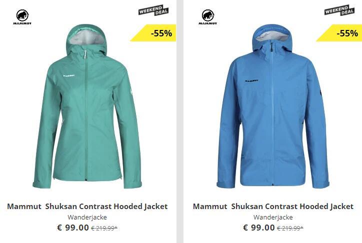 Mammut Shuksan Contrast Hooded Jacket wasserdichte Hardshell-Wanderjacke