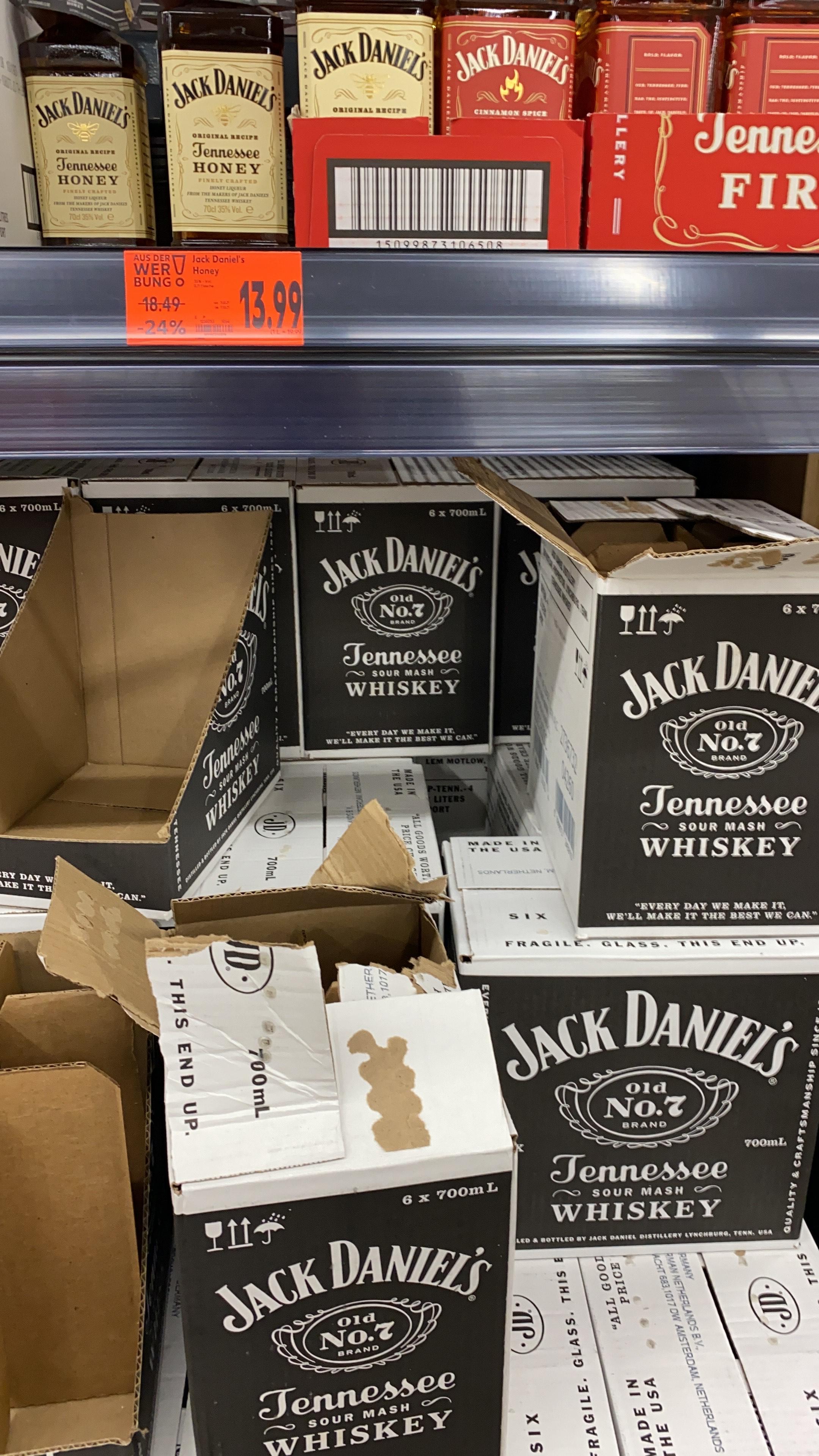 Jack Daniels - alle Standard Sorten - Lokal Kaufland Gütersloh