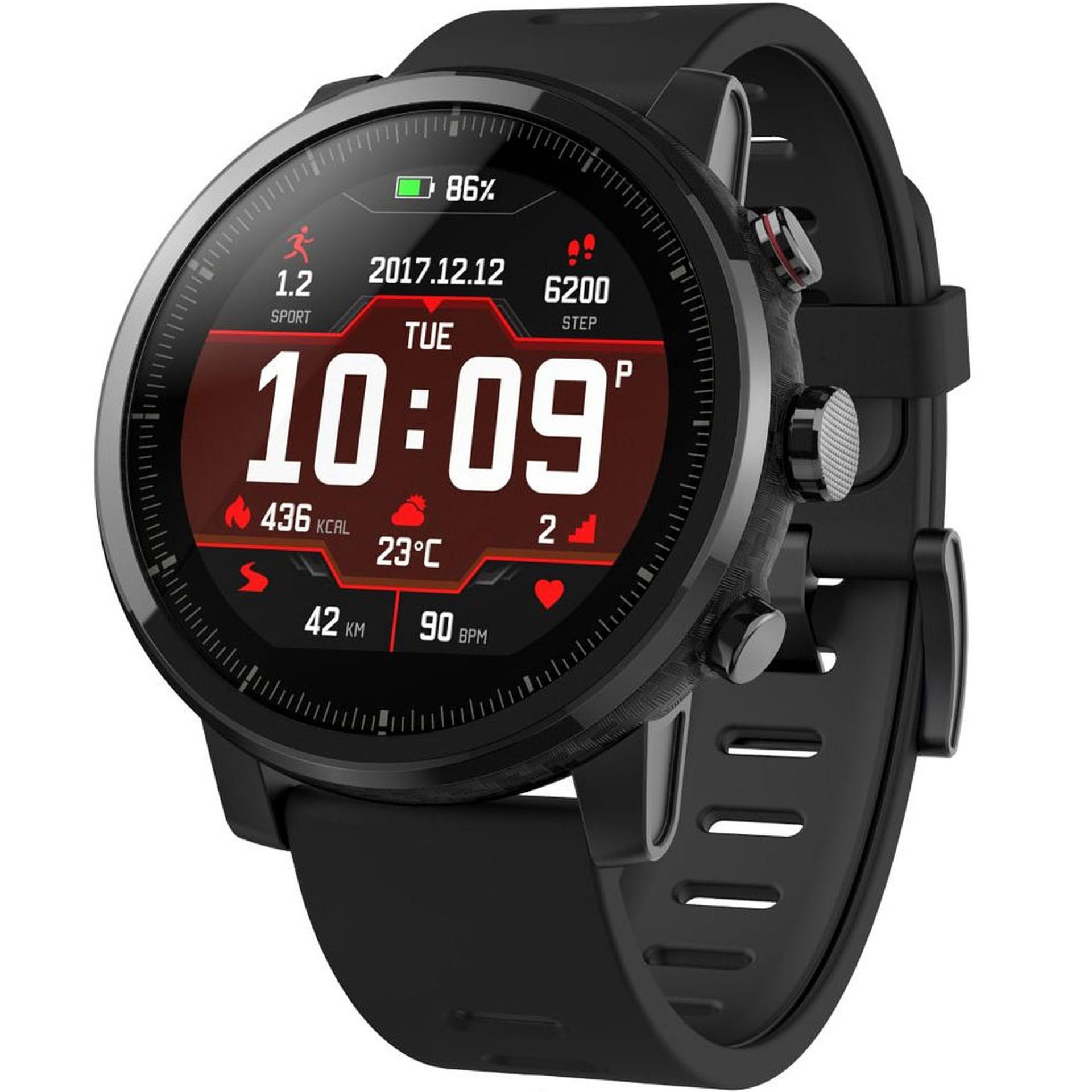 "Amazfit Stratos: Smartwatch (1.34"" Display, 512MB RAM, 4GB Speicher, Pulsmesser, Barometer, GPS, WLAN, Bluetooth, GPX Import, 3 Tage Akku)"