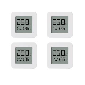 XIAOMI LYWSD03MMC Smart Bluetooth Thermometer | 4er Pack