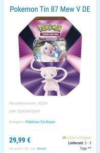 Pokemon Tin 87 Mew V DE