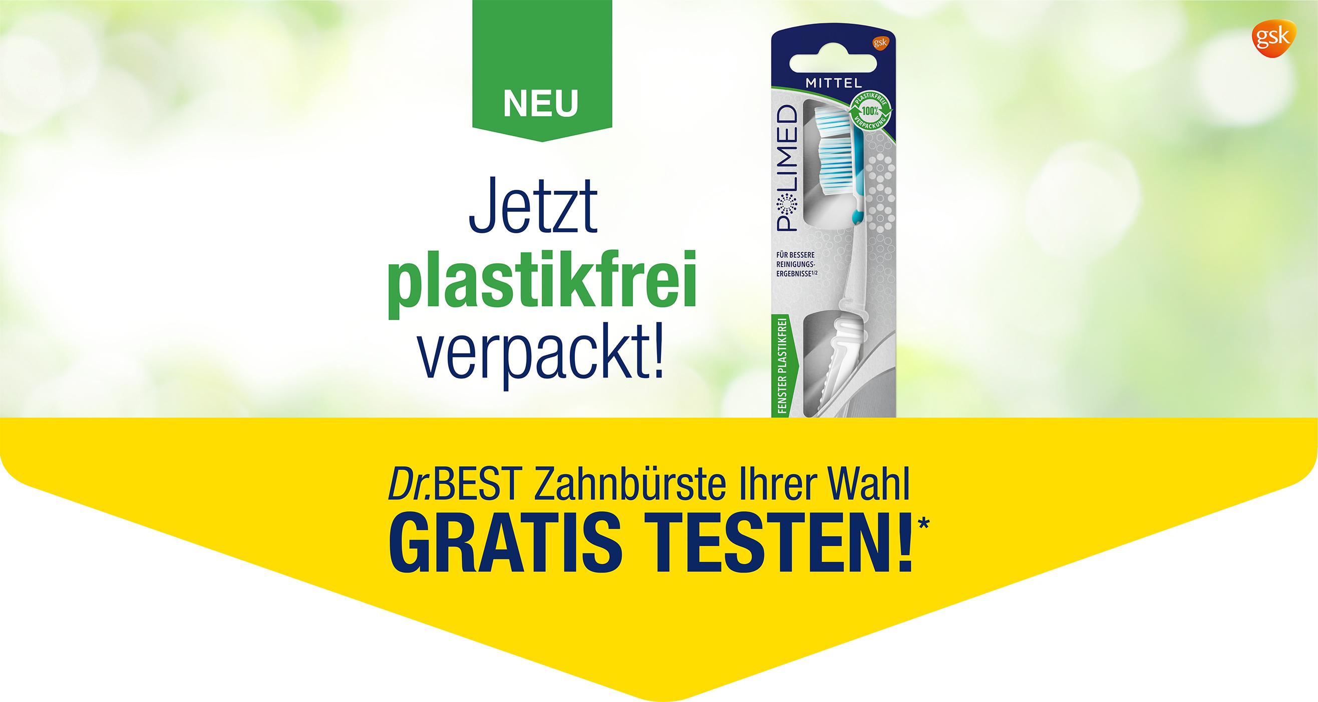 [GzG] Für eine Dr. Best Zahnbürste nach Wahl 100% Geld zurück - neue Aktion ab 15. März 2021