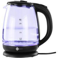 Glas-Wasserkocher mit LED-Beleuchtung, 1,8 Liter, 1800W in schwarz für 7,99 Euro [Zimmermann]